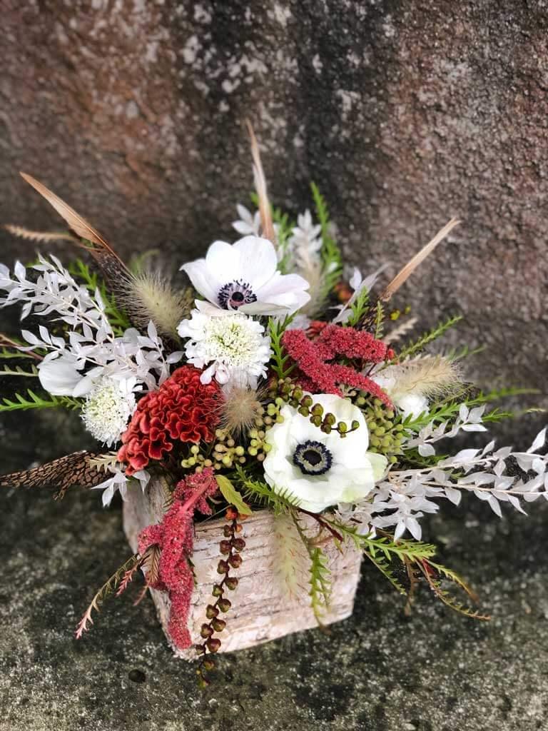 Fall Folliage Floral Centerpiece