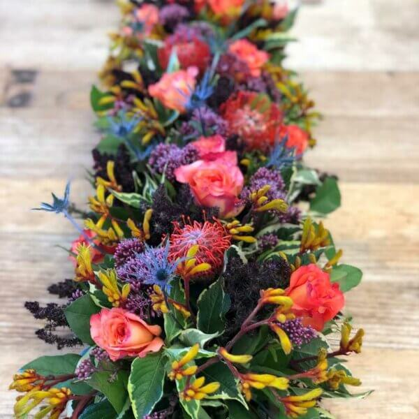 Fall Garden Flowers Centerpiece