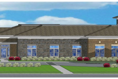 Strongsville Front Elevation Rendering Entrance