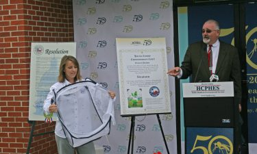 Mosquito Assassin release during HCP4 Commissioner Cagle's speech at HCPHES 50th Anniversary