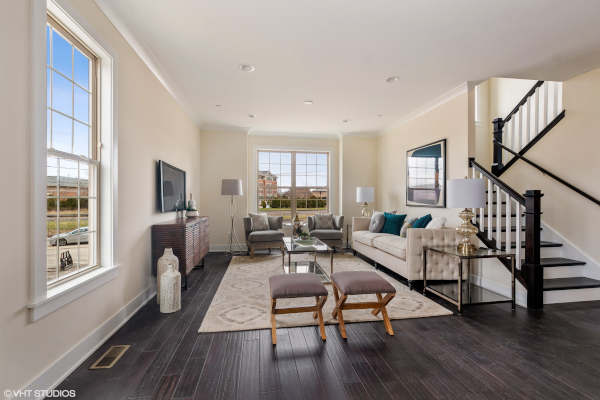 New Construction Luxury Townhomes - Living Room | Elm Street Place