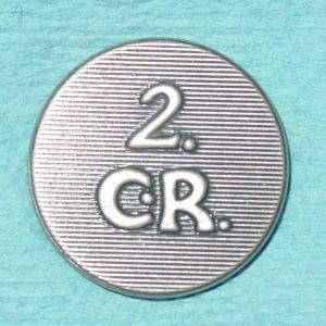 """Pattern #16731 – Connecticut 2nd Regiment  """"2 CR"""""""