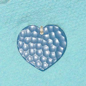 Pattern #28373 – HEART Shape w/ BLUE Enamel & Golf Pattern