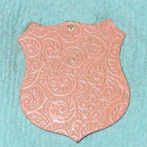 Pattern #28374 – Shield w/ Pink Enamel