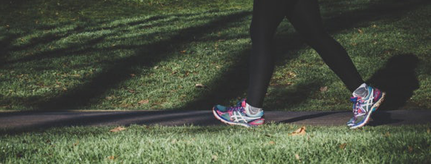 legs walking in the park