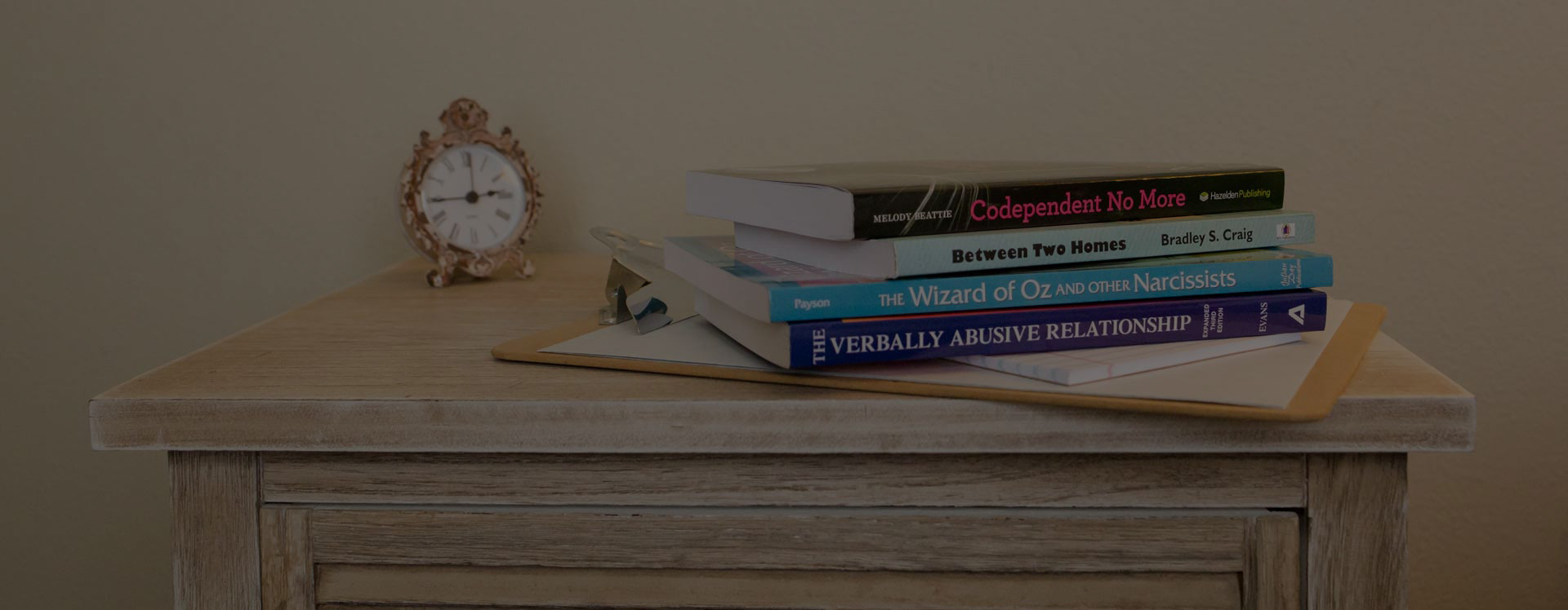 books about counseling on the desk