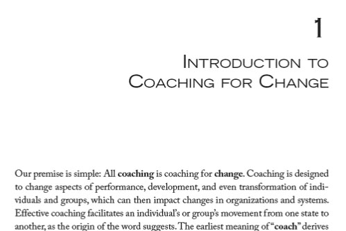 Introduction to Coaching for Change