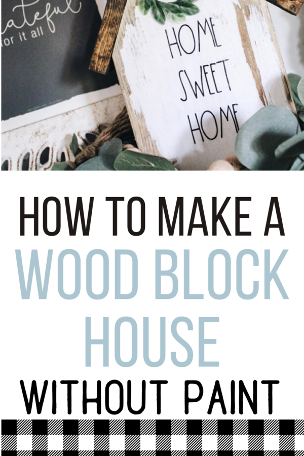 diy wood block house
