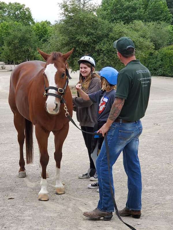 Monty Roberts Certified Instructor teaches at-risk teens at Join-Up International's Lead-Up California program