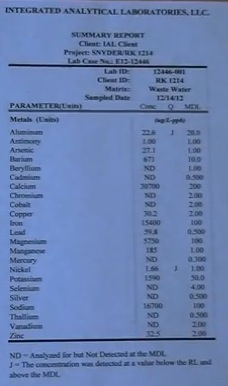 fractivist Ray Kemble water tests