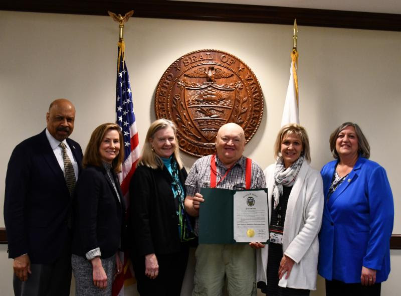 Chester County's Commissioners showed their support for Developmental Disabilities Awareness Month with the issuing of a proclamation on Tuesday, March 19.