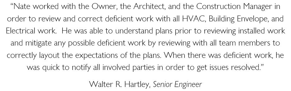 Walter Hartley Testimonial - White