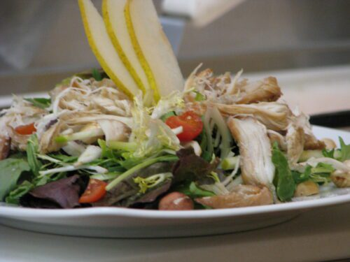 Halibut Salad with Pears