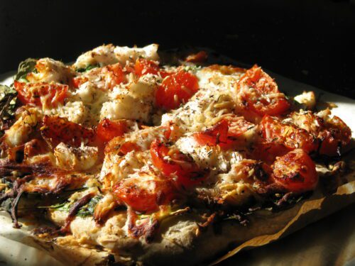 Roasted Halibut Pizza
