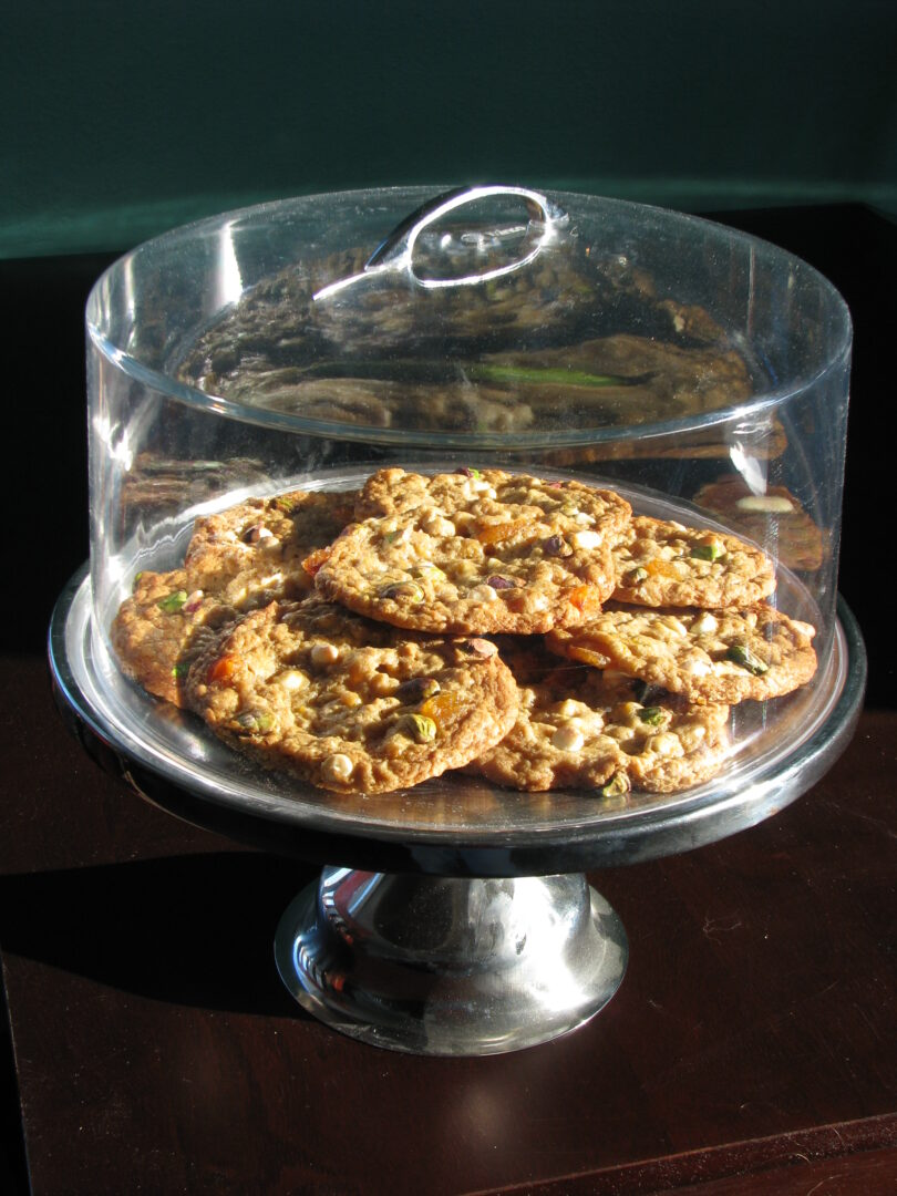 Our house apricot pistachio white chocolate chip cookies