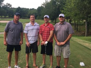 2016 Coaches Clinic Golf Scramble. Dr. Diesselhorst is shown with his high school coach and several teammates.