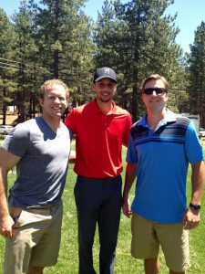 Lake Tahoe celebrity golf tournament with the NBA MVP, Stephen Curry and Jason Holm.