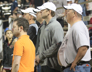 Dr. Diesselhorst and friends sideline at a football game.