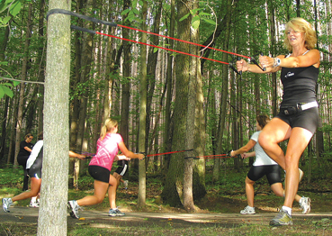 EVERY MUSCLE—EcoTrek's workout is designed to exercise the whole body and provide an excellent heart-healthy session.