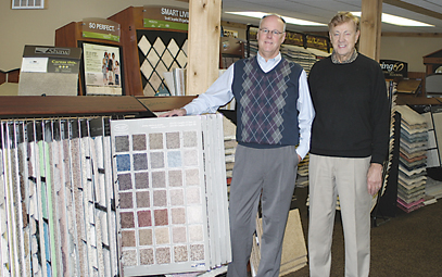 THE RANDY AND STU SHOW—Randy and Stu VanderWerp, son and father, have worked together for a very long time and between them, have over 50 years of experience with owning a floor covering business. They believe educating customers, offering the best prices and continued good service is key to the success of Rockford Floor Covering.