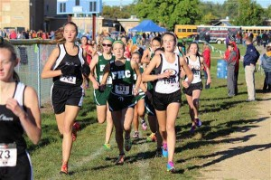 Medich (left) and Beach (right) work their way forward at Sparta Invitational.