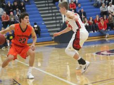 Rockford's Nate Anderson (22) looks to make a move.