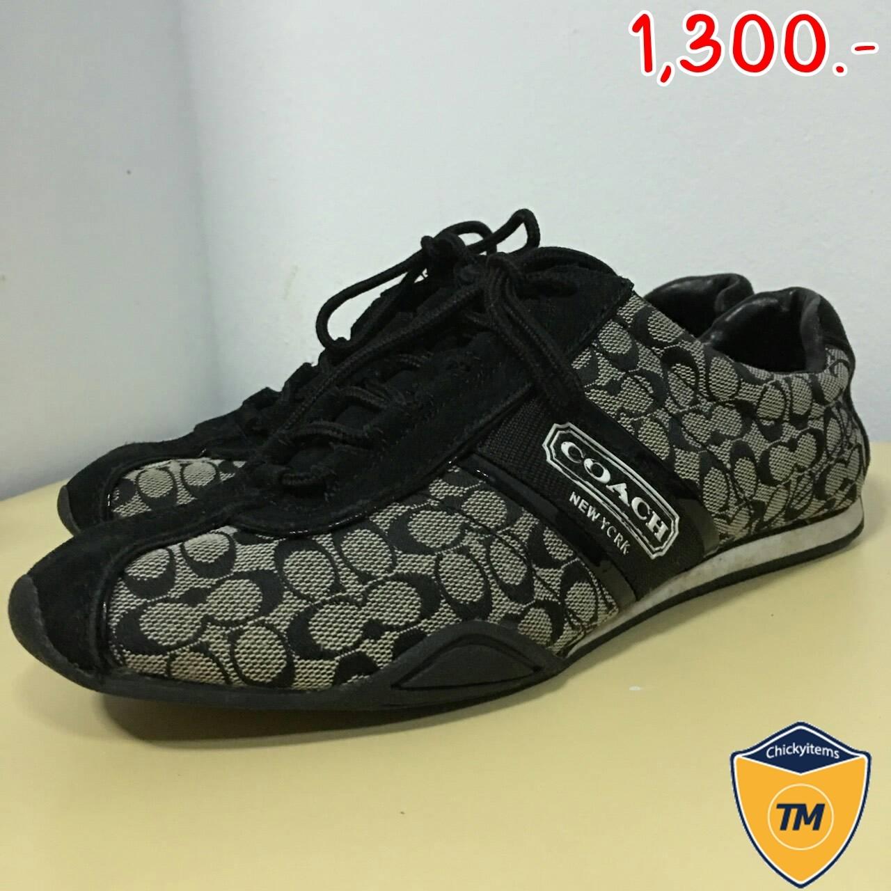 ขายแล้วค่ะ** รองเท้า COACH F0007 BLACK