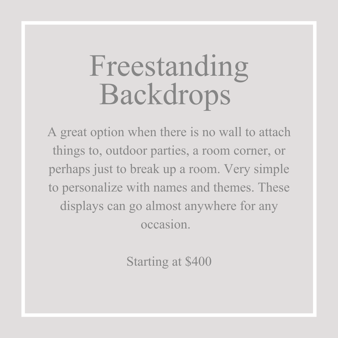 Freestanding Backdrops