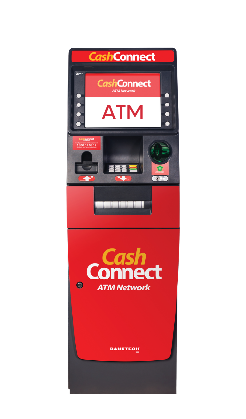 CashConnce ATM machine red