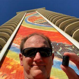Geocaching in Hawaii Rainbow Tower