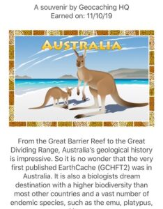 Australia Geocaching Souvenir