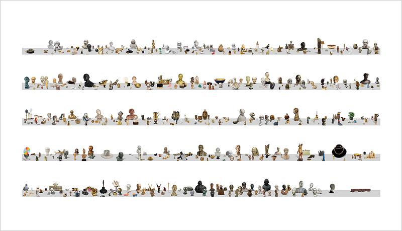 Robert Arndt, Compositional Workstudy (The Score), 2011-2015, ink jet print