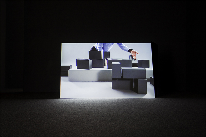 Robert Arndt, Placeholder, single channel video projection, Installtion view Artspeak Vancouver 2011