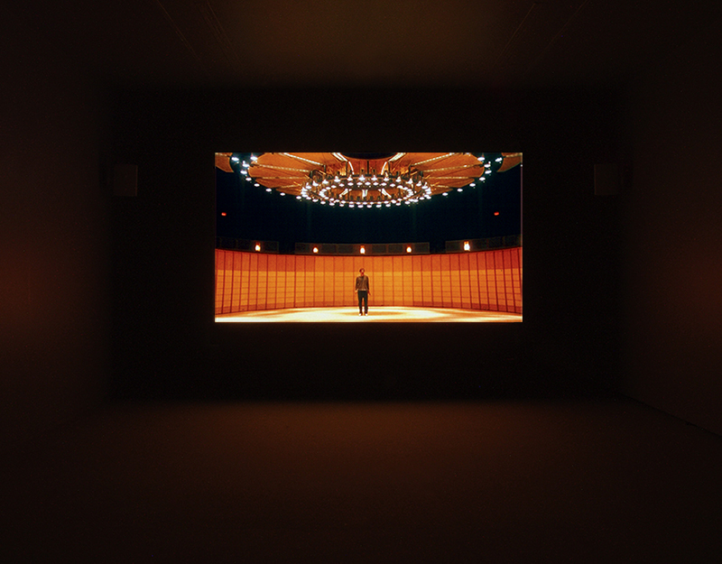 Robert Arndt, Lines for the Next Exhibition, 2004, Single channel video projection. Installation view Vancouver Art Gallery