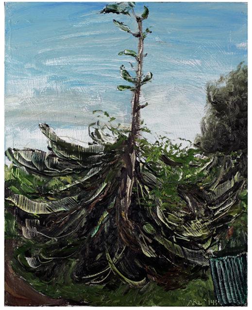 "Attila Richard Lukacs, Norfolk Pine, 2014, oil on canvas, 30 x 21"""