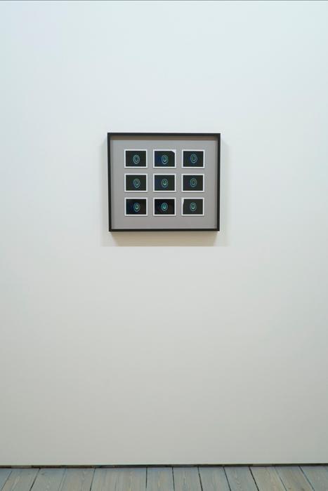 "Transcendental Capacities (Acid House, 1988 - 1992), 9 Kirlian Polaroids 18"" x 18"" (47cm x 47cm), Unique, 2013"