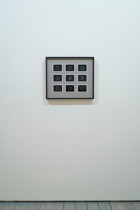 """Transcendental Capacities (New Romantic, 1980 - 1983), 9 Kirlian Polaroids, 18"""" x 18"""" (47cm x 47cm), Unique, 2013"""