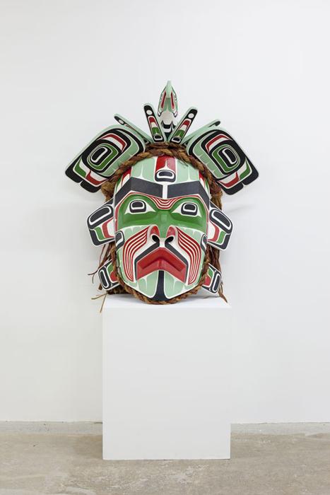 "Hamaniquala, 2012, 31""x30""x21"", cedar, paint bronze"