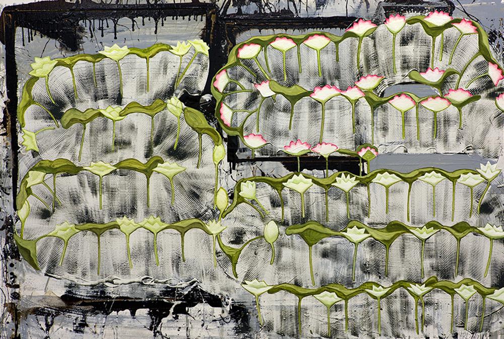 Attila Richard Lukacs, Lotus Pools, 2012, oil on canvas