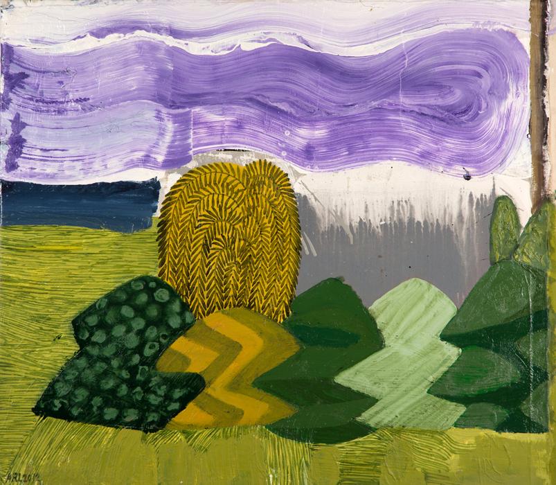 "Attila Richard Lukacs, Topiary Garden #1, 2012, oil on canvas, 38 x 43.25"""