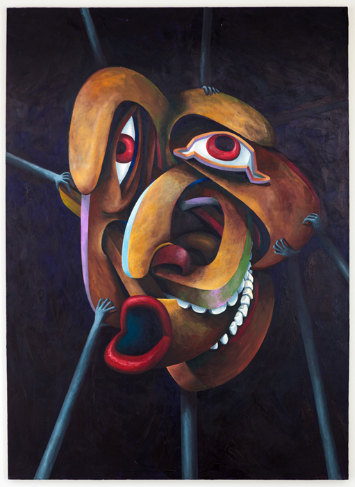 """Object attributed to Shawn Hunt, 2014 acrylic on canvas, 86"""" x 62"""""""