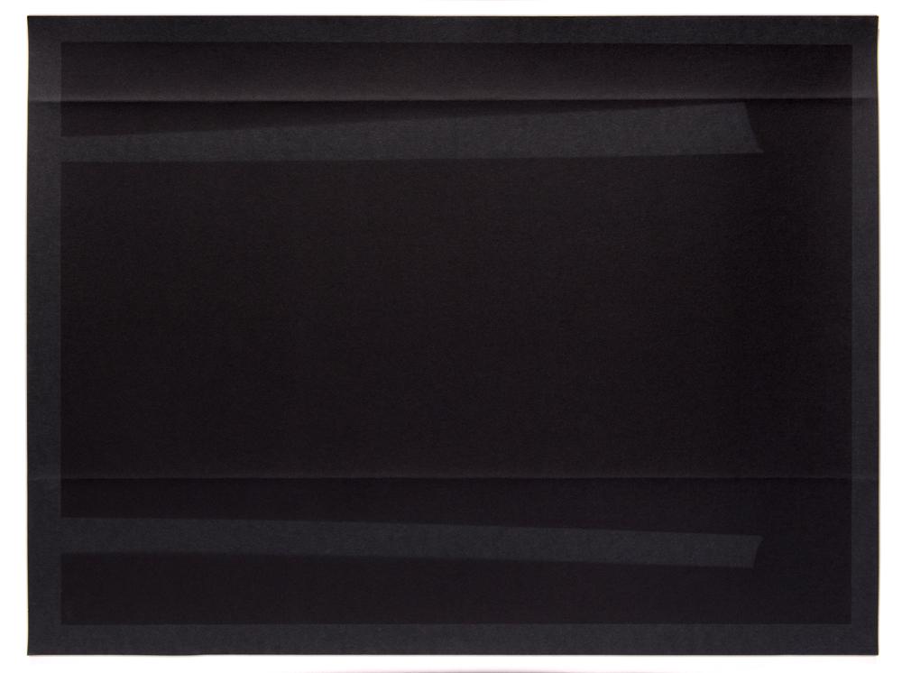 Negative Folds and Lines, 2014, 30 x 22 inches, pigment print, unique.