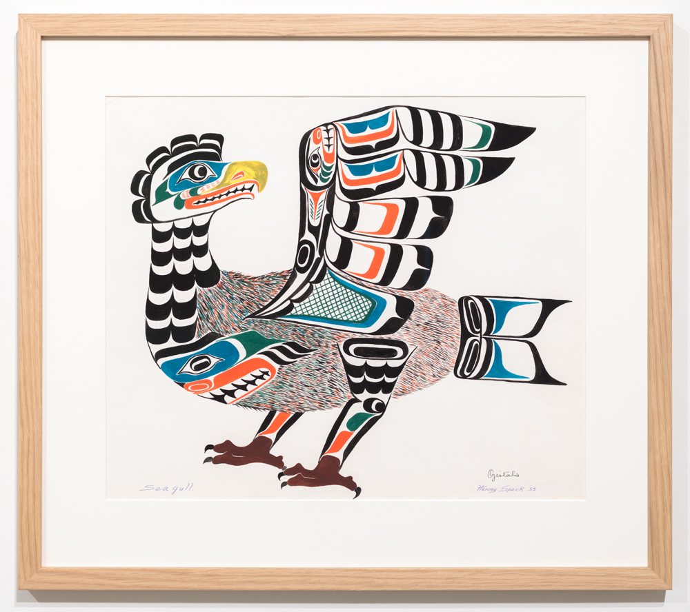 Chief Henry Speck, Seagull, 1959, guache on paper.