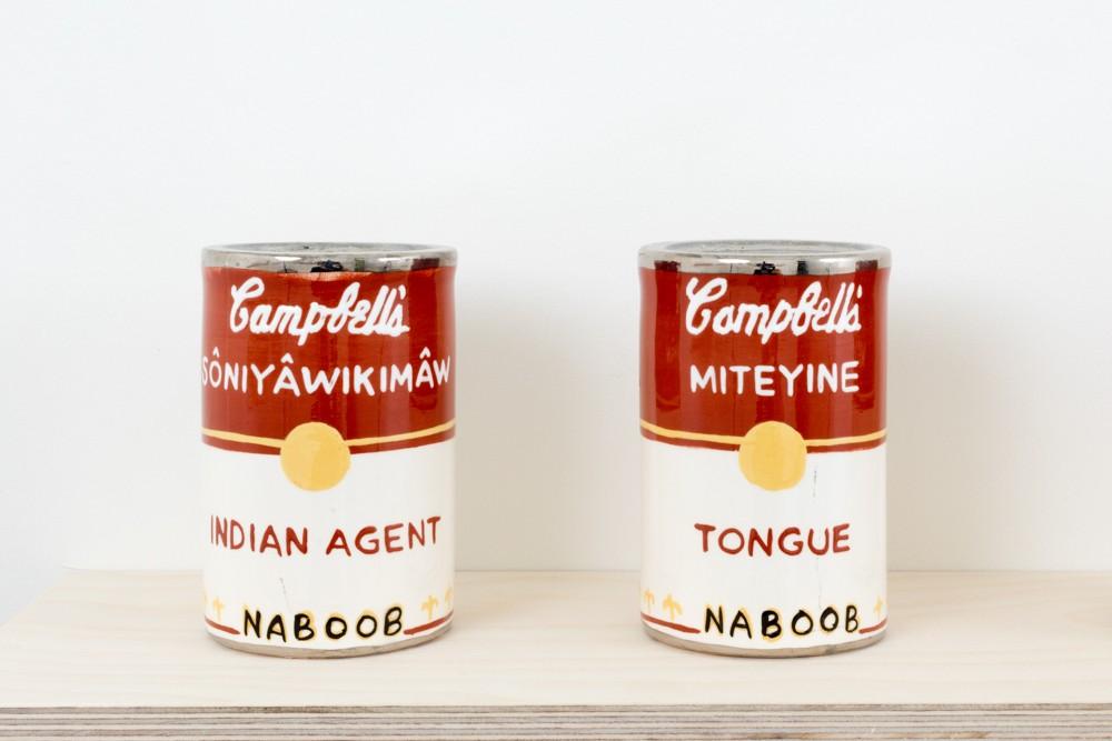 Judy Chartrand, Métis Soup (detail), Indian Agent and Tongue