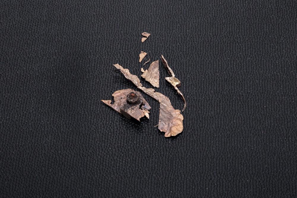 "Jeneen Frei Njootli LUX   MAM IV, 2017 Bronze and Plastic 48"" L x 35.7"" H x 2.5"" W Photo Credit: Barb Choit"