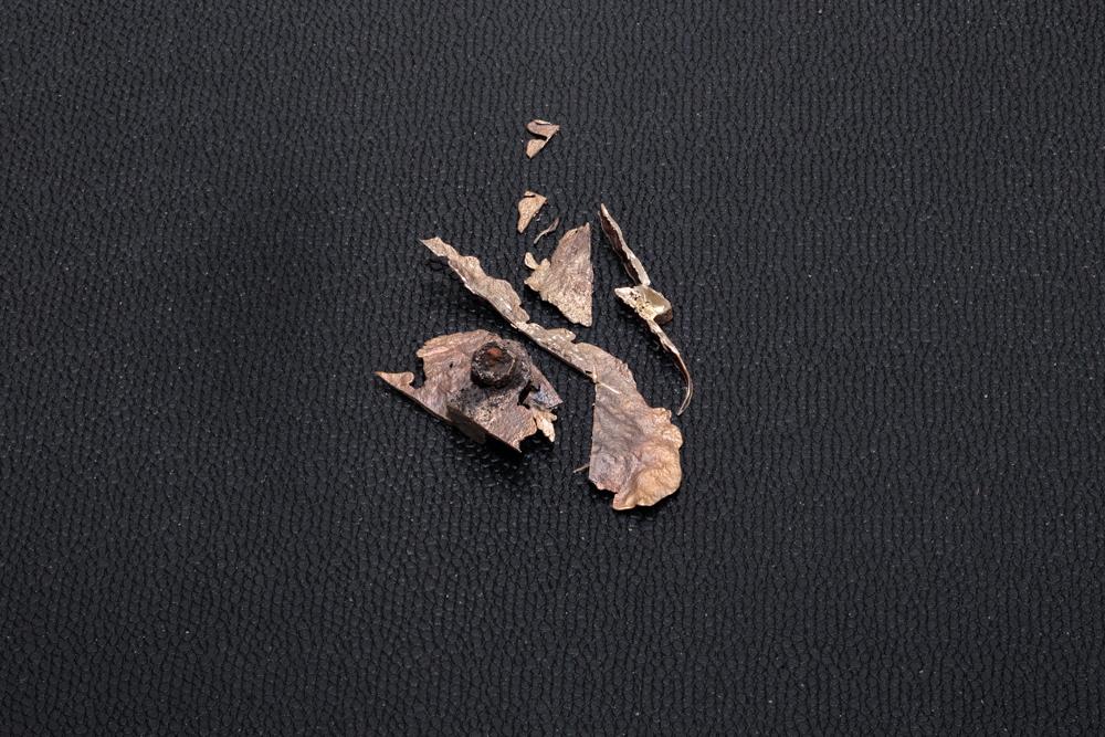 "Jeneen Frei Njootli LUX | MAM IV, 2017 Bronze and Plastic 48"" L x 35.7"" H x 2.5"" W Photo Credit: Barb Choit"