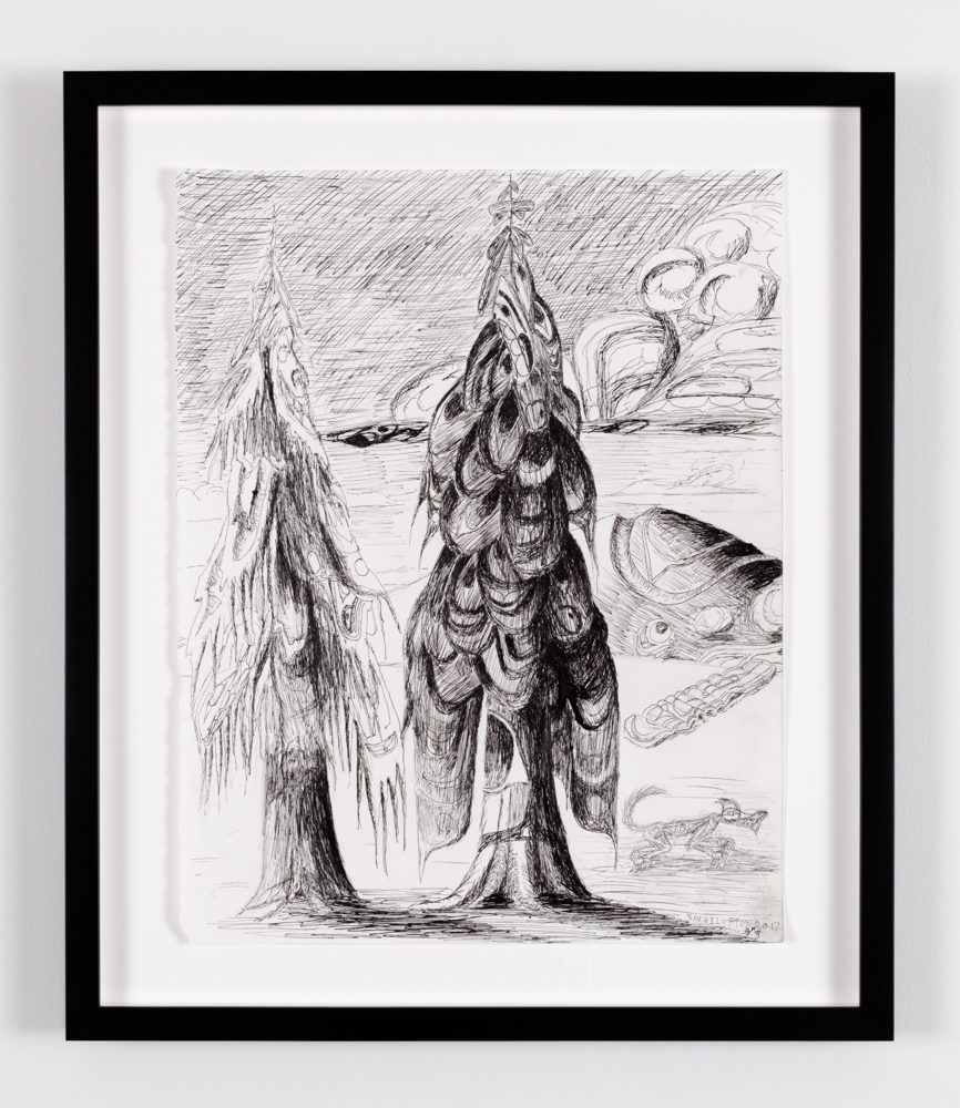 Lawrence Paul Yuxweluptun, Untitled, 2017, Ink on paper
