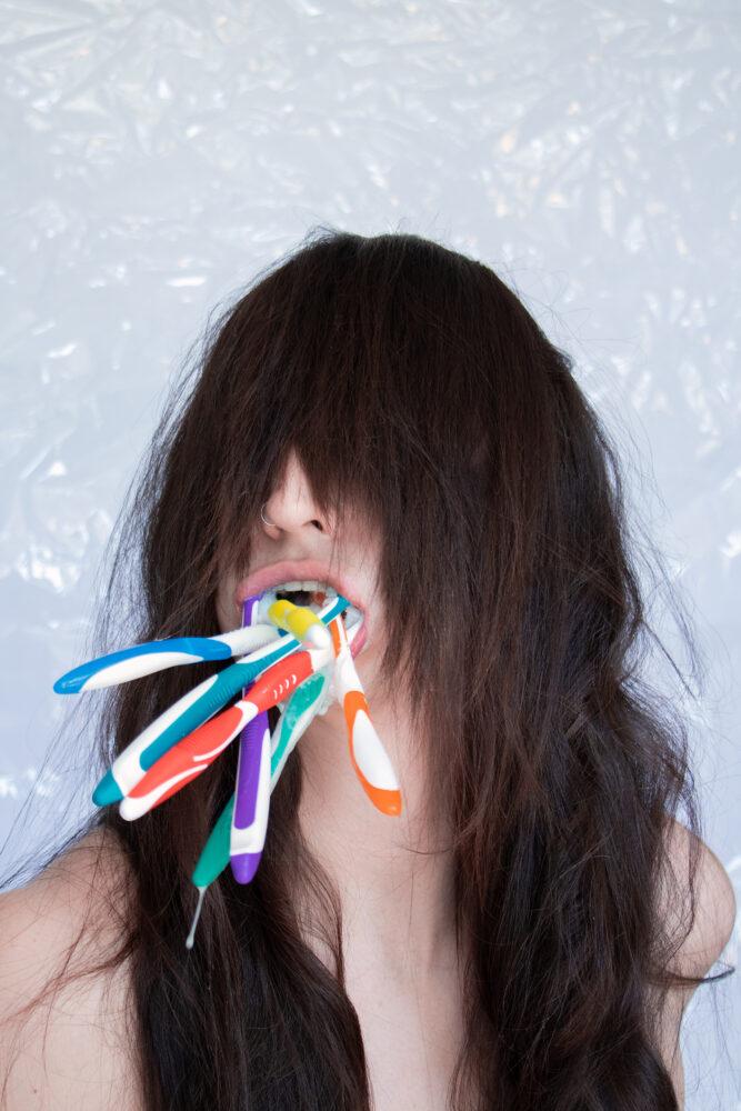 "Teethbrush, 2021, Jake Kimble, 24""x 36"" photograph on archival inkjet"