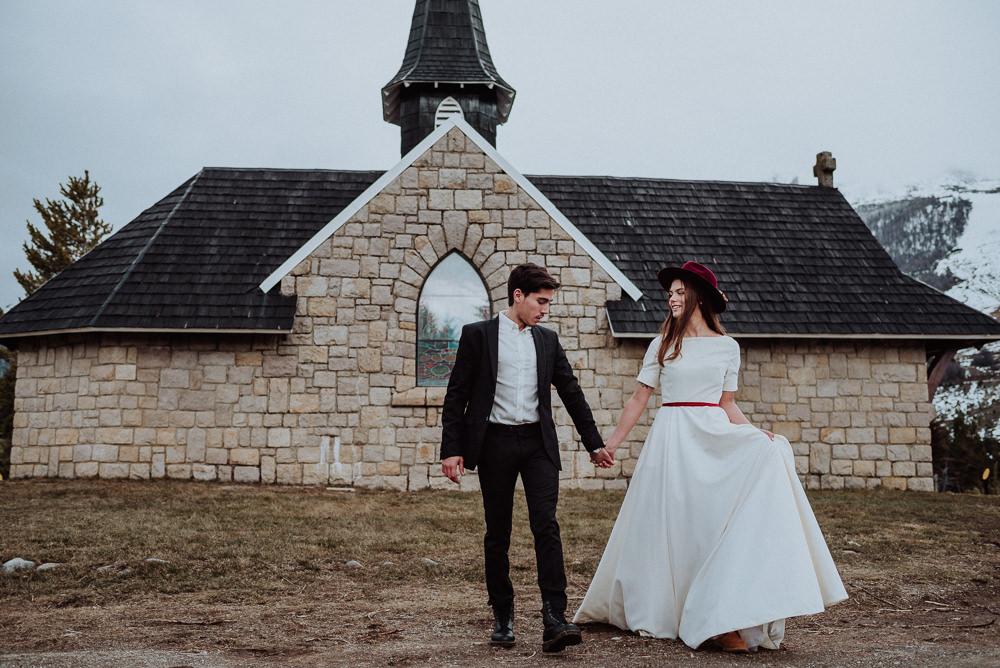casamiento en invierno bariloche