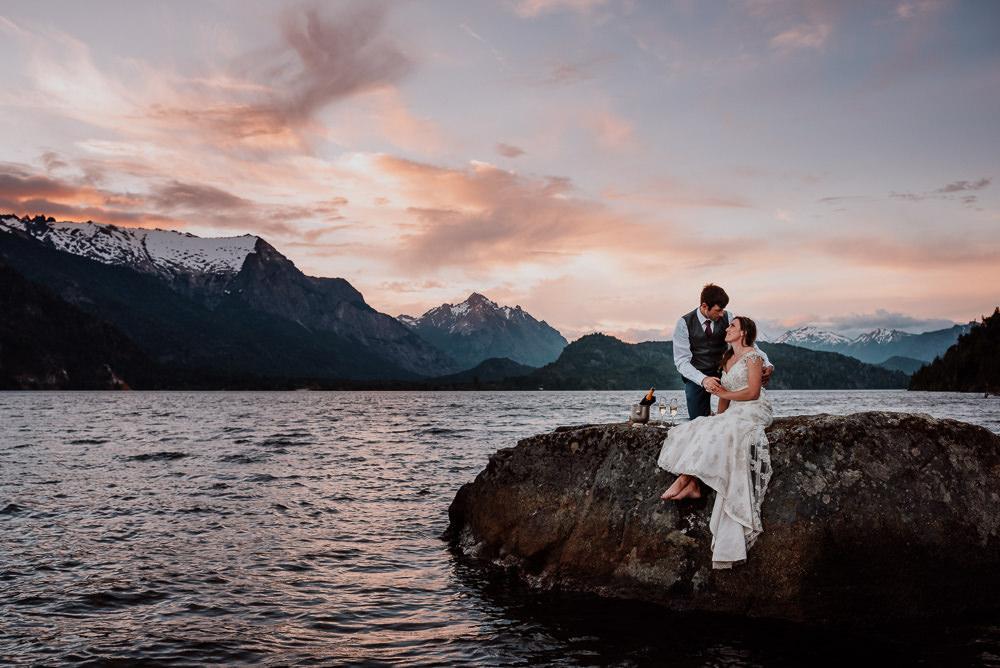 lake mountain wedding patagonia